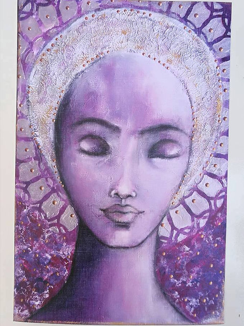 Print infused with healing energy : crown chakra