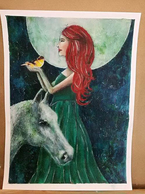 Print Goddess Rhiannon
