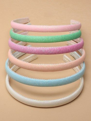 Girls Headbands, alicebands, Glitter, soft fabric, plain colours, pastel colours