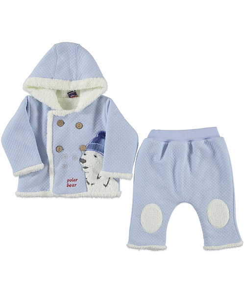 Polar Bear 2 Pcs Set - Blue
