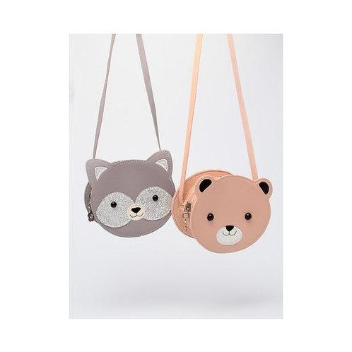 Childrens Animal Shoulder Bag Pink and Grey