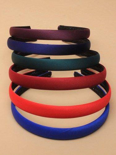 1.5cm matt satin aliceband in School colours