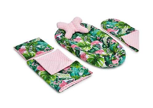 Exotic Flamingo & Pink Minky 5-Piece Set