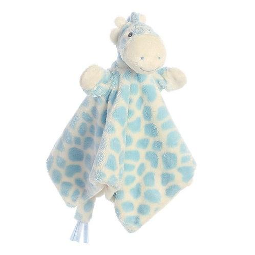 Gigi Giraffe Blue Finger Puppet Blankie
