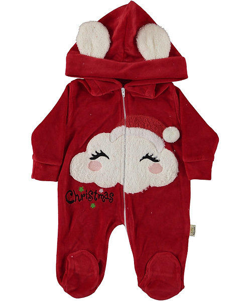 Christmas Sleepsuit (Red/VELVET)