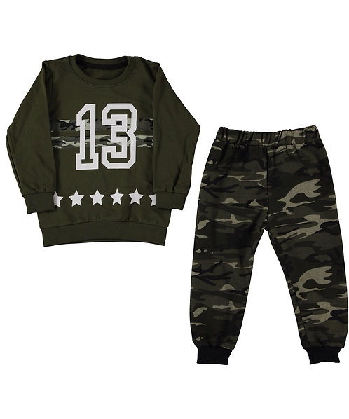 Boys clothing, 2 pieces set, tracksuit, khaki