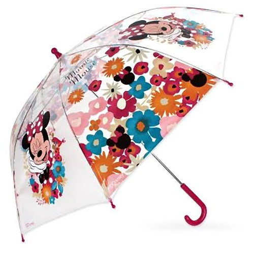 Official Childrens Minnie Mouse Clear Umbrella