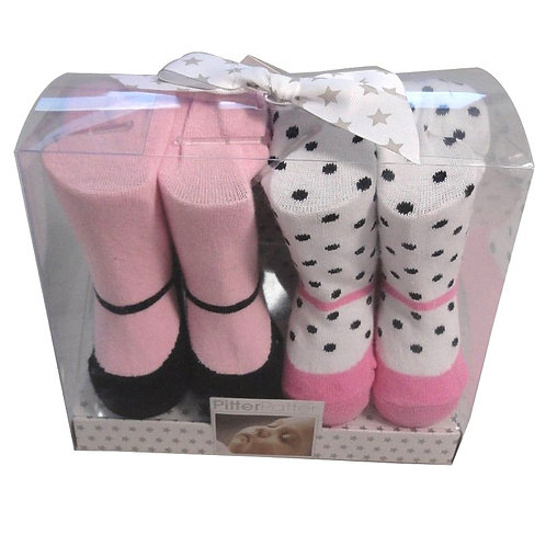 BABY GIRLS 2 PACK TIGHTS GIFT SET (0-12 MONTHS)