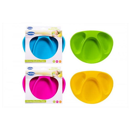 Two mealtime plates, divided baby / toddler plates