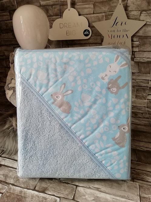 Bath Towel - Little Rabbits (Blue)