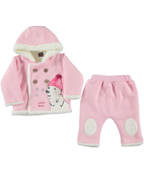 Baby Girl clothes, pink jacket, joggers