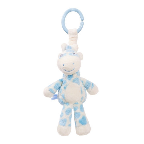 Gigi Giraffe Blue Rattle Pram Toy