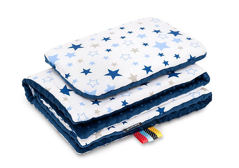 Baby Boy Bedding Set. Navy Blue with Stars