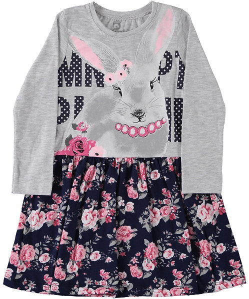 Pink Floral Bunny Dress