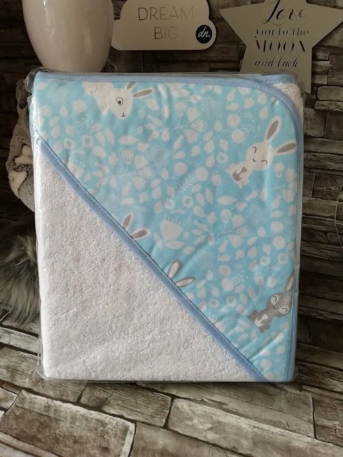 Bath Towel - Little Rabbits (White)