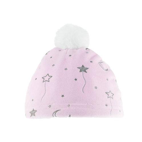 Pink Baby Hat with Pom Pom