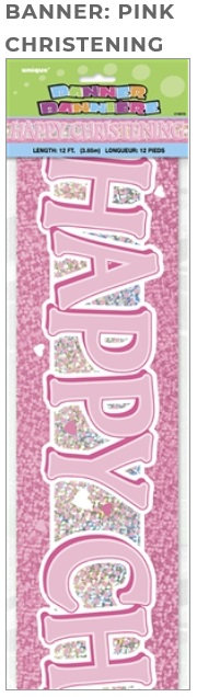 happy christening day party banner