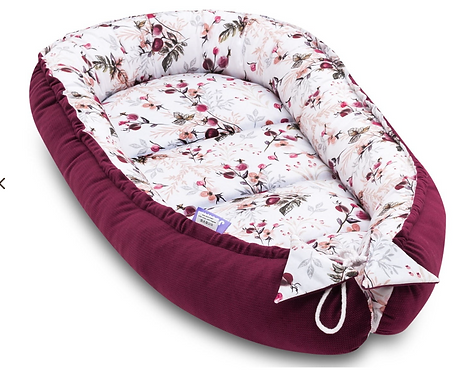 Baby Cocoon Nest - Luxury Velvet Royal Rosa, Front