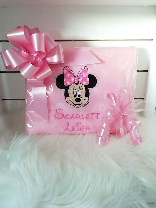 Minnie Mouse Personalised Baby Blanket
