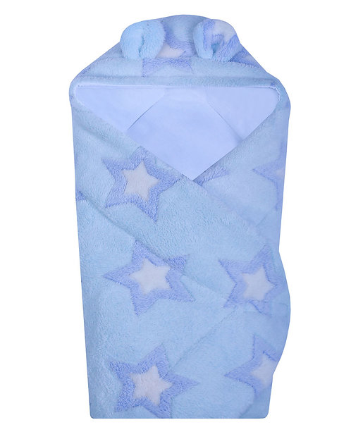 Baby Hodded wrap (Blue Stars)