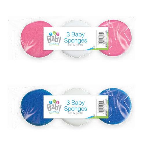 3 Pack Baby Sponge