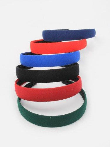 2.5cm wide cotton fabric aliceband in school colours