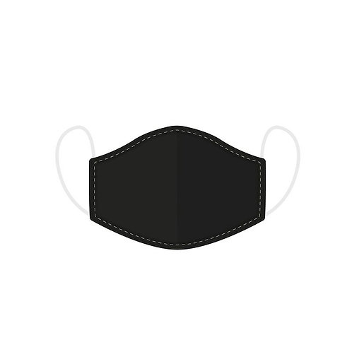 Plain, Black Adult Face Mask