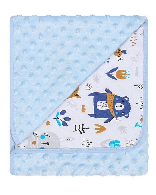 Double-sided Blanket - Happy Friends (Blue)