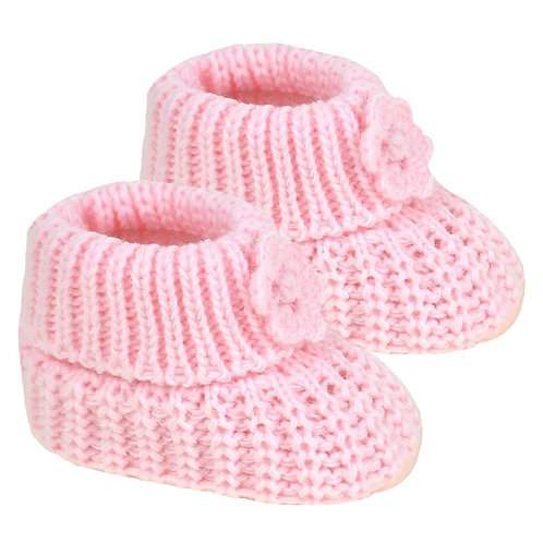 Pink Acrylic Baby Bootees