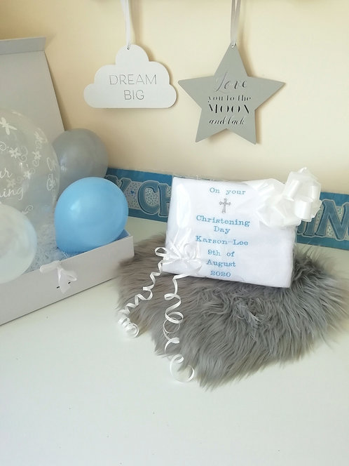 Personalised Christening Day Blanket