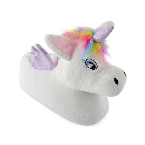 Girls Plush Unicorn Soft Fleece Slipper