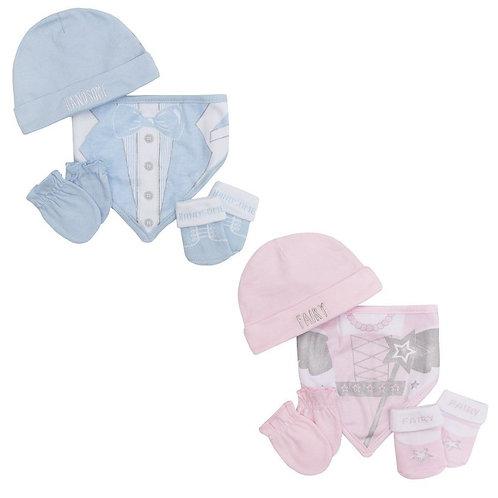 Baby 4 Pcs Organza Bag Gift Set (0-3 m)