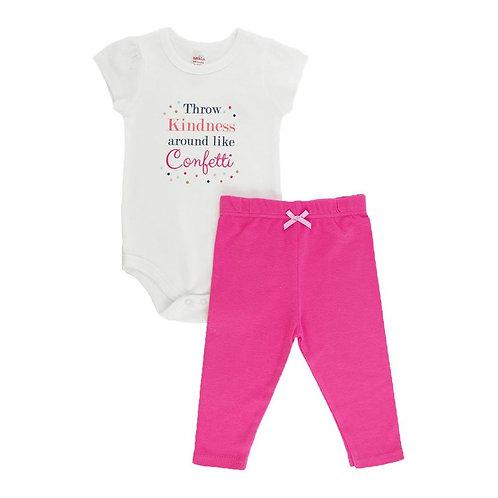 Baby Girl Clothes, 2Pc Set, Bodysuit, Legging, Pink