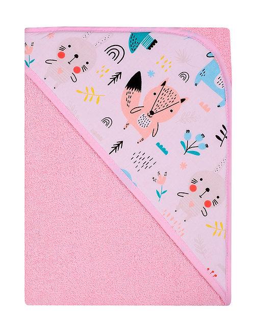 Pink Baby Towel - Fox Design