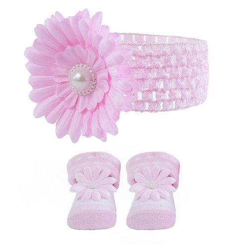 Headband & Sock Set - Pink