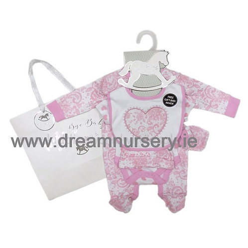 Baby Girls Heart 6 Piece Gift Set (NB-6 Months)