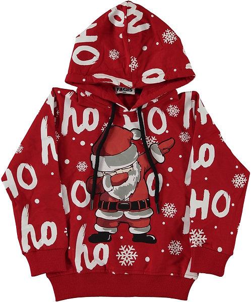 boys christmas hoody with santa