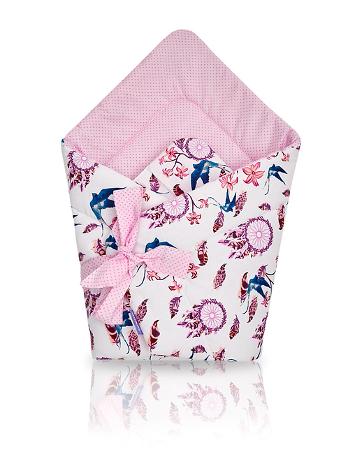 Baby Wrap, Bedding, Pink, Swallows