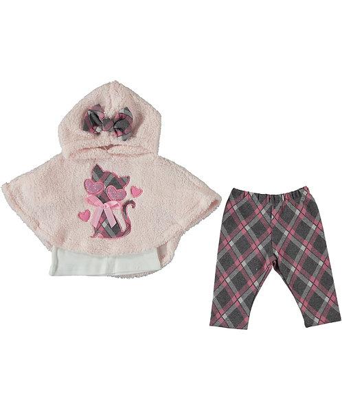 Baby Girl Poncho 3 Pcs Set