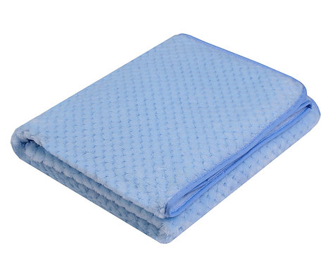 Plain Blue super soft Baby Blanket