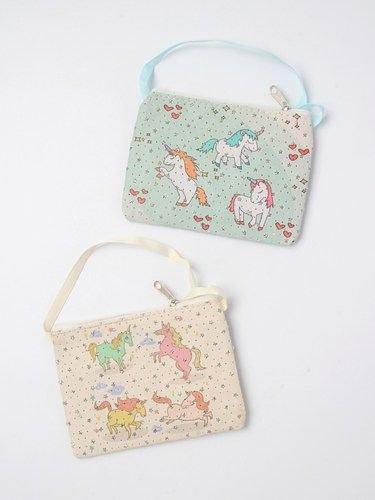 Unicorn purse with zip