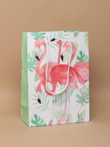 Flamingo Print paper Gift Bag