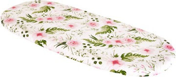 Pram / Cradle / Crib Fitted sheet with Pink Flower allover print