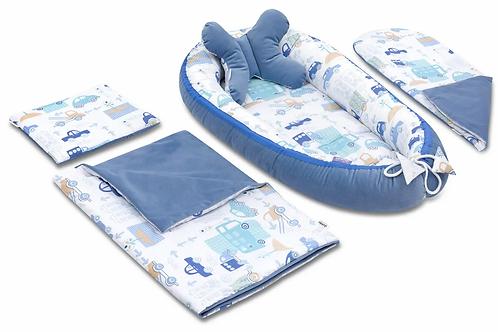 Blue Avenue & Jeans Velvet 5-Piece Set
