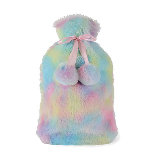 Plush Rainbow Pom Pom Hot Water Bottles
