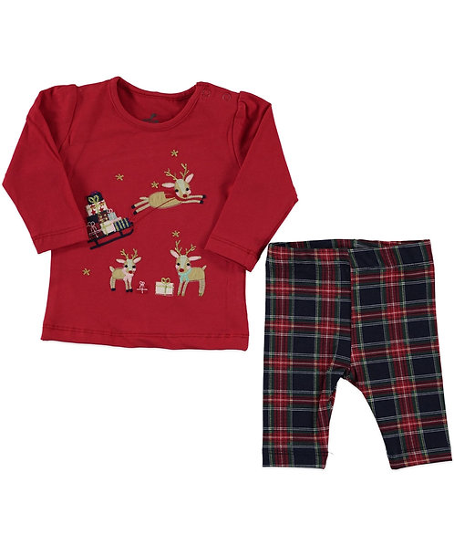 baby girl christmas 2 pieces cet with legging and long sleeve top