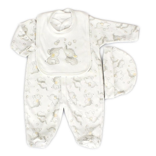 BABY UNISEX ELEPHANT 3 PCS SET (0-9 M)