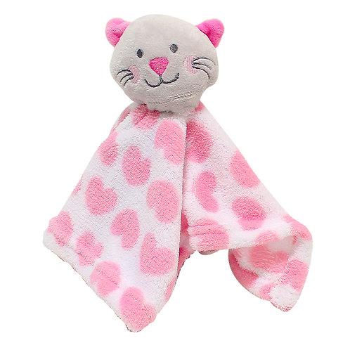 Baby Girl Comforter, Cat, Pink, Super Soft