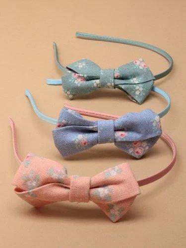 Linen floral print Aliceband, Girls Accessories, Headbands