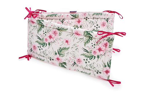 Cot Bumper, Protector, Baby Girl, Pink, Blossom, Printed